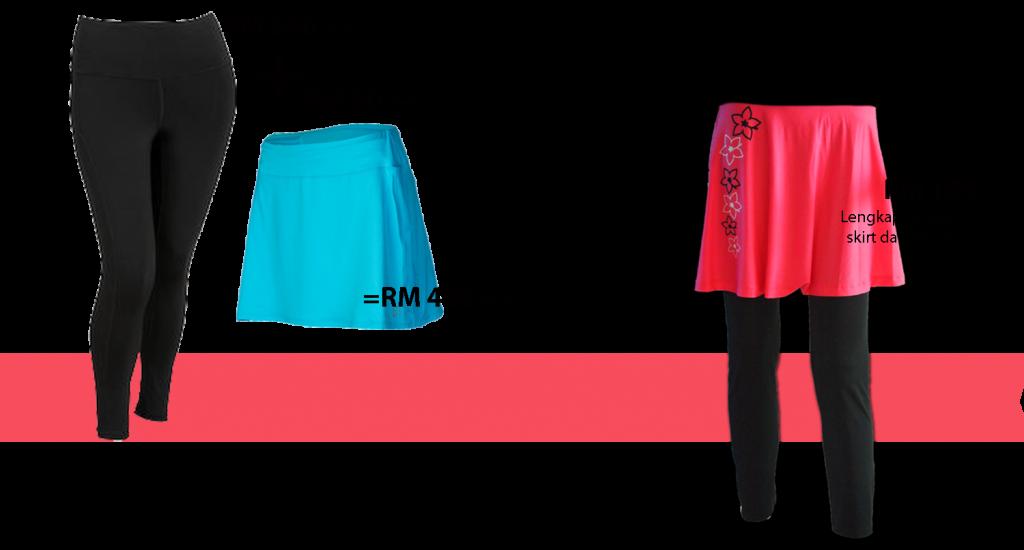 Skirt Pants Comparison