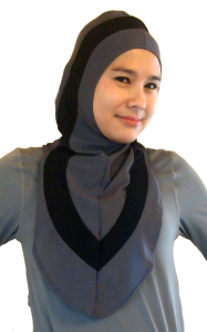 Dark Grey Iman Hijab