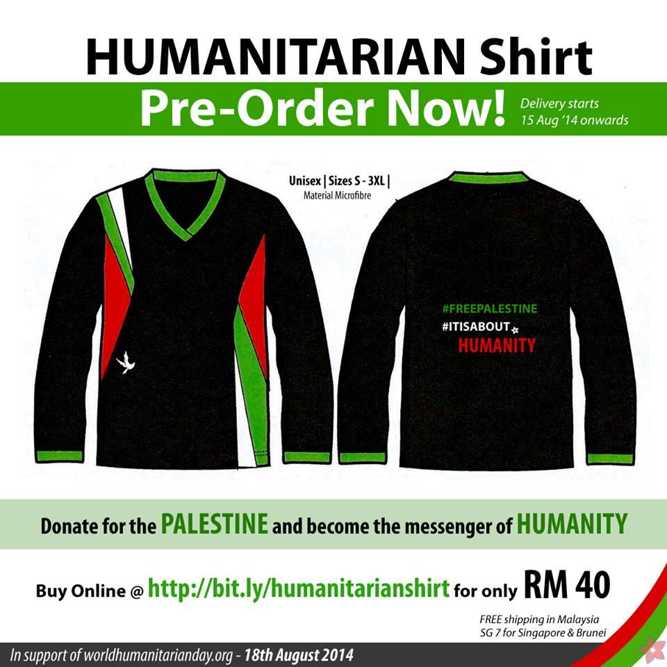 humanitarian shirt, palestine
