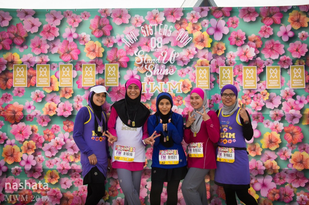 Sisters who ran their first Full Marathon at MWM. (except Intan Suraya)