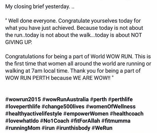 WOW RUN AUSTRALIA