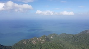 view of andaman sea from machincang mountain
