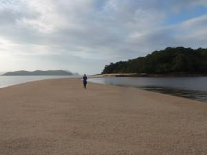 Running back from Pulau Rebak Kecil