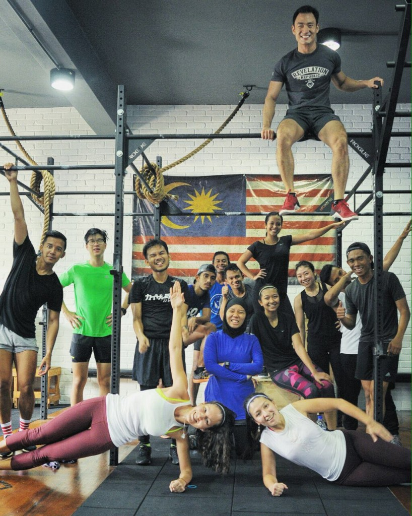 With our instructor. How did he even got up there?!