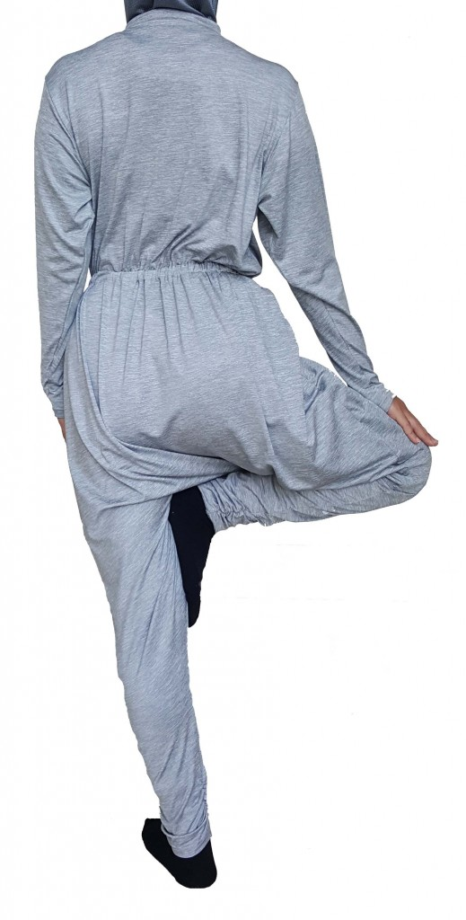 Back Modest Yoga Rompers