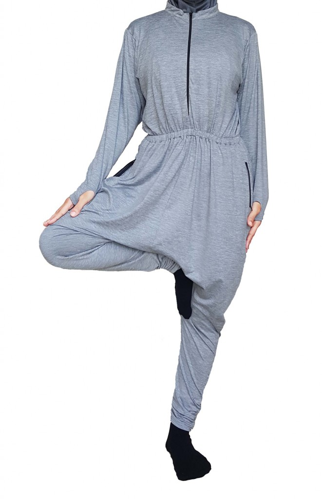 High Neck Modest Yoga Rompers