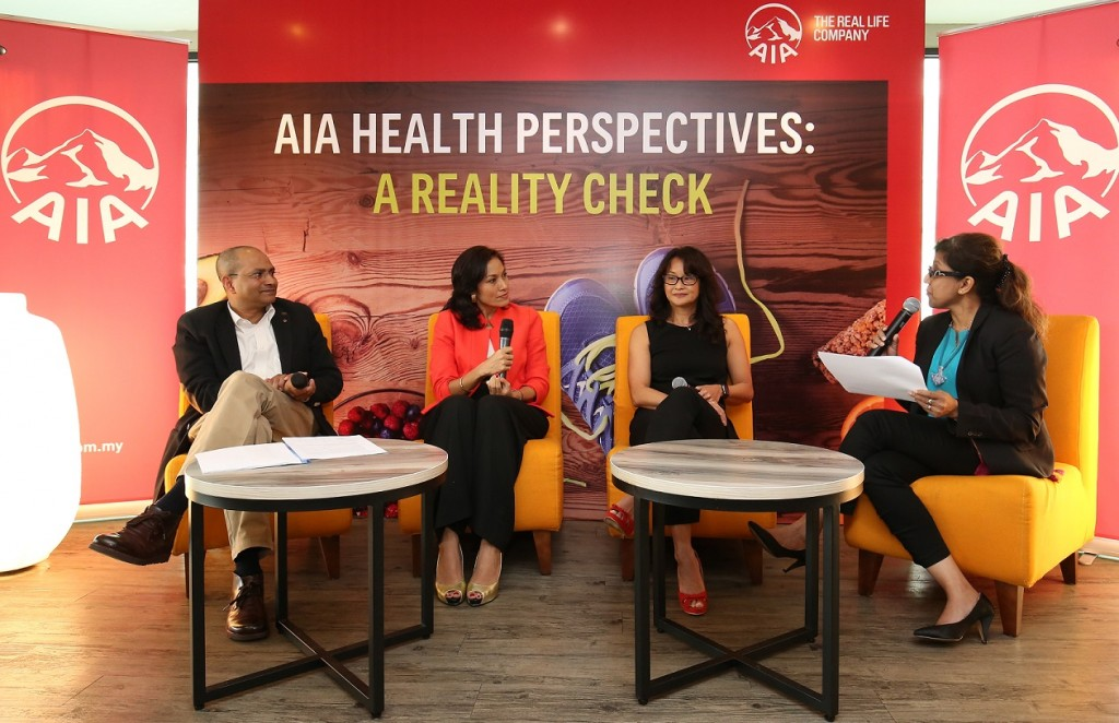 The panelist discussing the current health trends of Malaysians