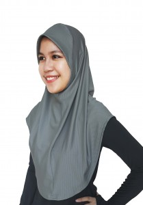 Dark Grey Mumtaz Hijab
