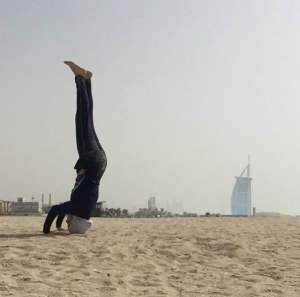 Nura Arabi in Favourite Pose : Tripod Headstand