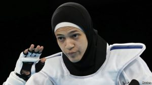 Hedaya Wahba, 23 is a taekwondo practitioner