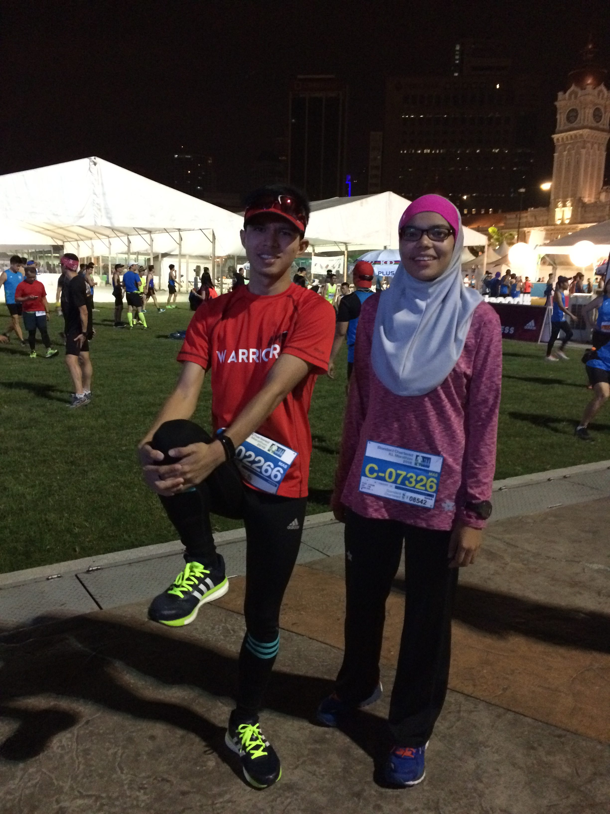 He managed to pace me for the first 21km ;) Thanks Hadi.