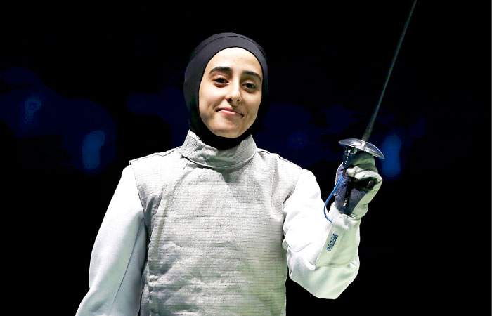 Lubna - the exquisite fencer