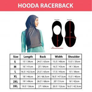 Nashata Hooda Racerback Sizechart