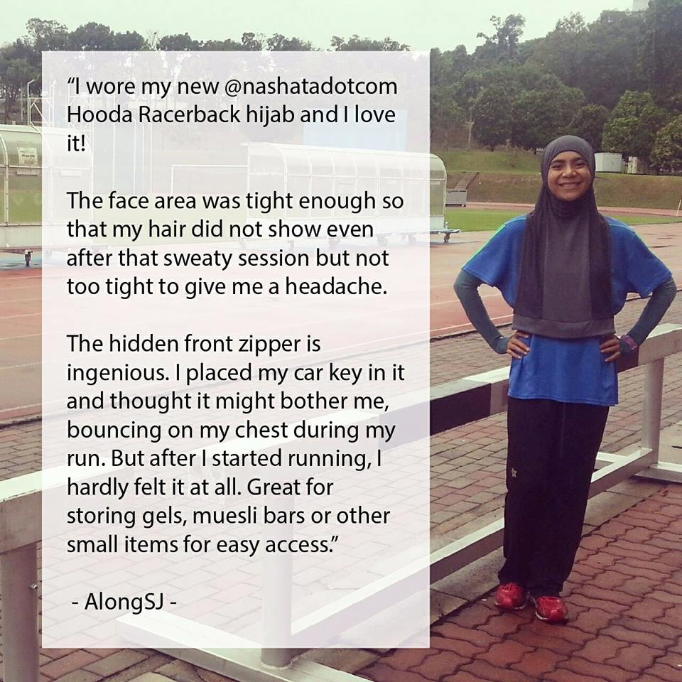 What does a hijabi Marathon runner say about the Hooda Racerback?