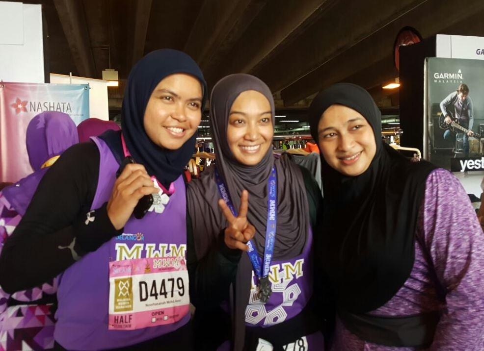 Fara Fauzana & running fans