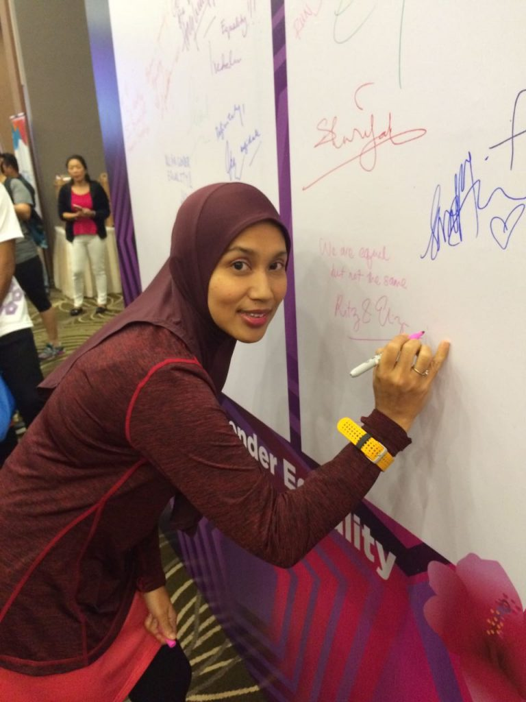 Signing our Pledge on the Wall of Gender Equality