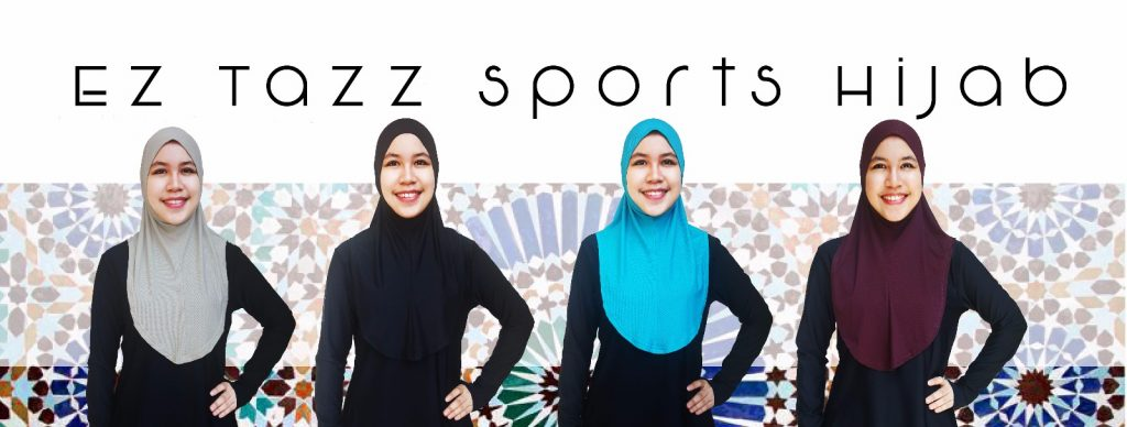 Trimmed Shoulder, Long and Wide Chest Covering Sports Hijab