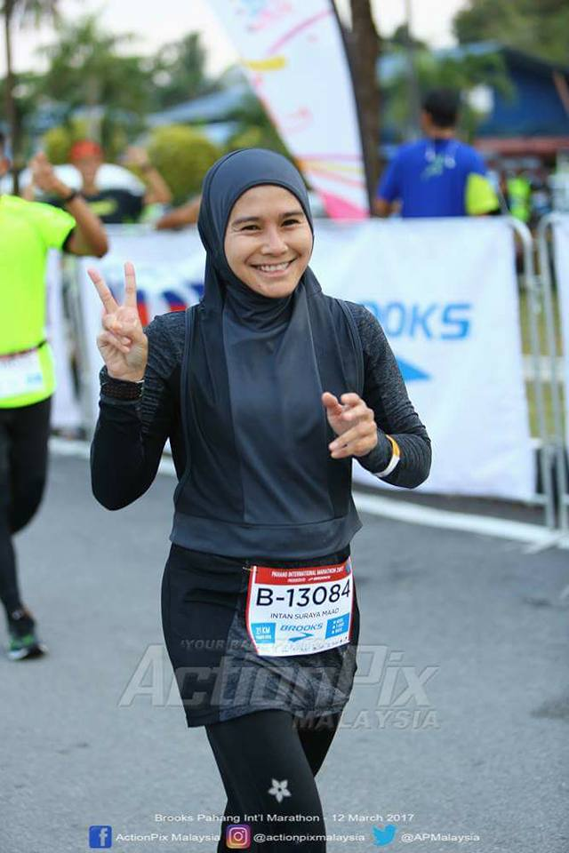 Intan Suraya runs a full marathon and 2 half marathon in March