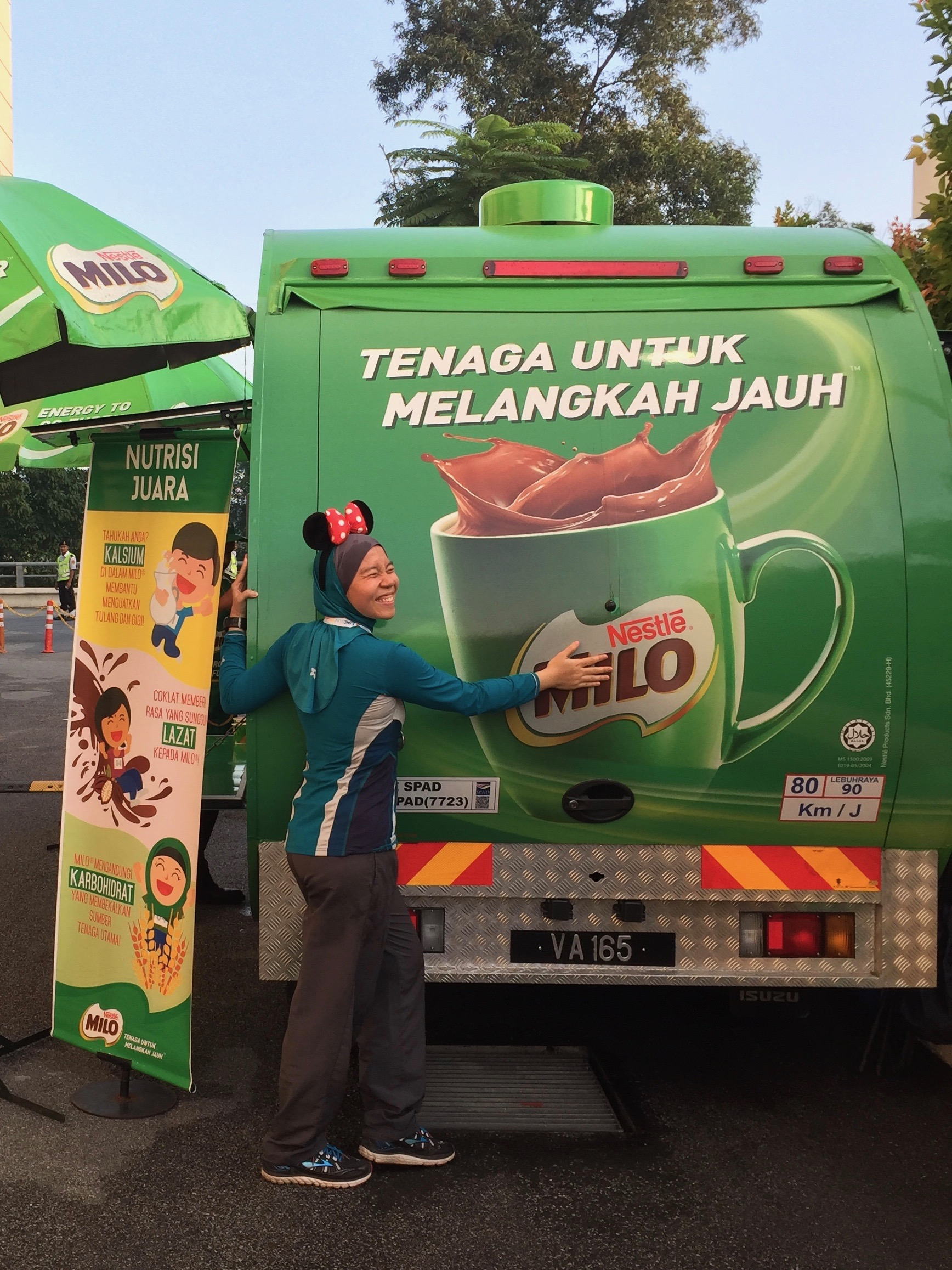 Picture was taken at a different event, but the Milo lorry is still the same!
