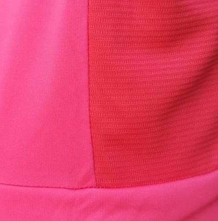 Monochrome Hot Pink Hooda Racerback Fabric : Smooth & Wafer-like Combination