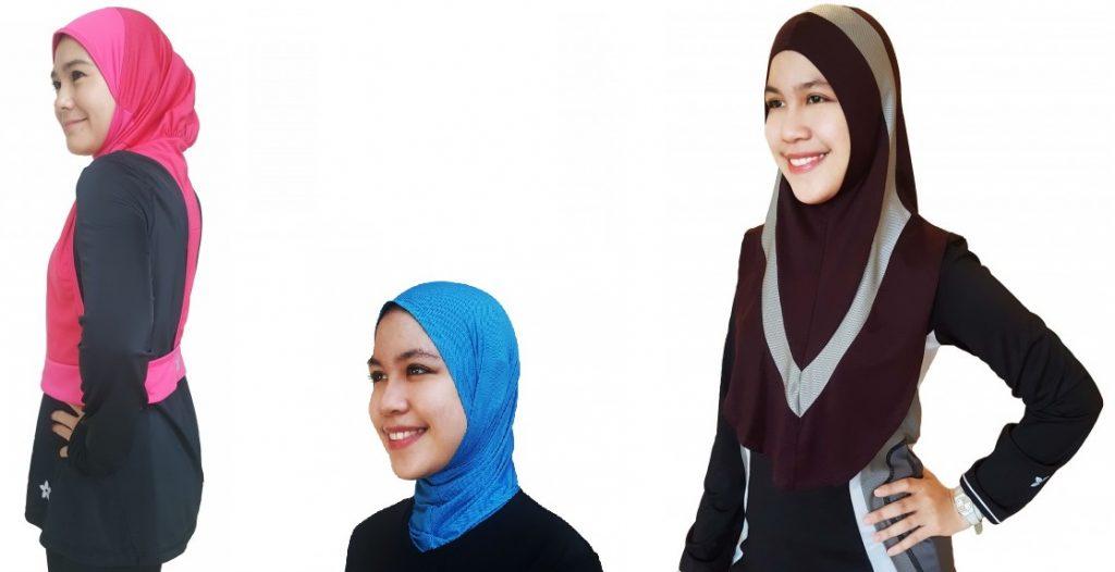 Nashata Hooda Racerback Sports Hijab, Raazglove and Amin Extended