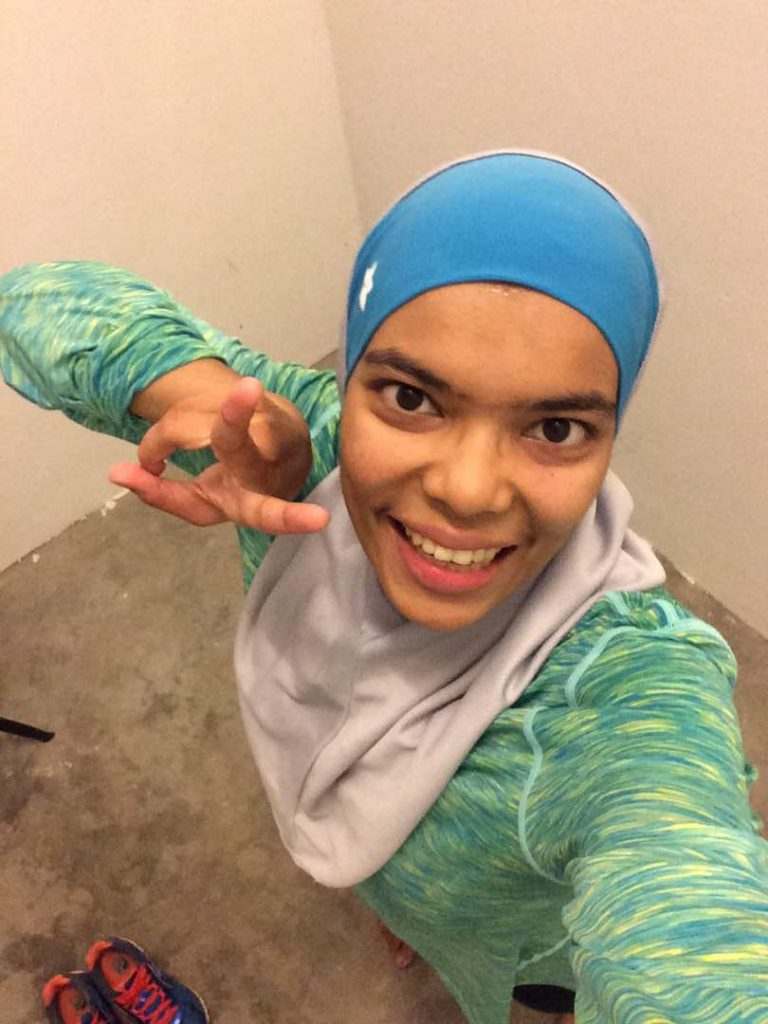 Nahsuhah & I too ran at the same time - virtually.