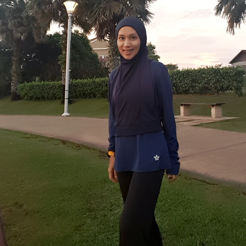 Same Tone Nashata Ulttra Top & Hooda Racerback Sports Hijab - the limited edition