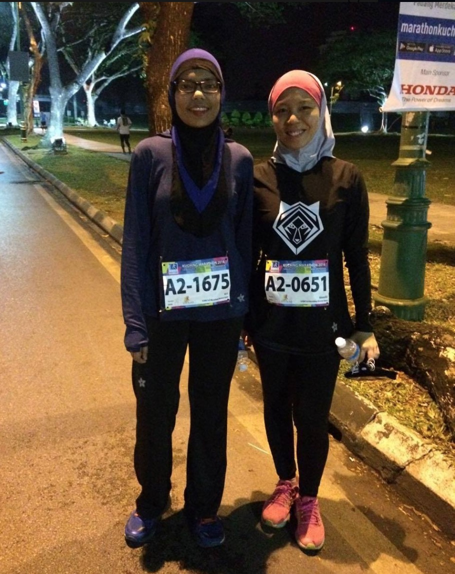 Muslimah Runners with Bib