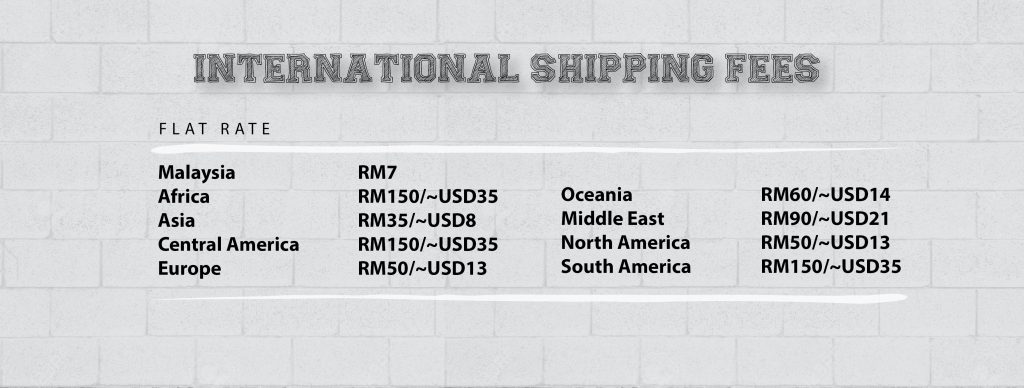 Nashata Shipping Fees are Flat Rates