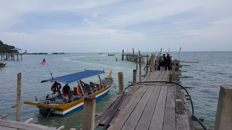 The jetty by Penang National Park