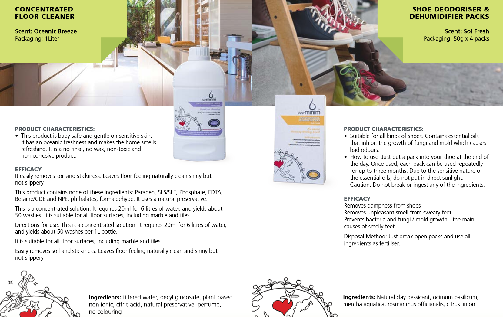 Ecominim Floor Cleaner & Shoe Deodorizer