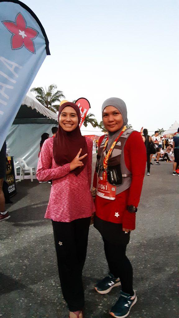 Intan Suraya and Farhati Tajudin, Finishers of Full Marathon 💪